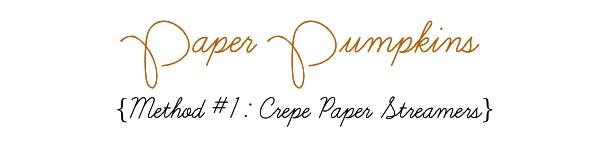 Halloween, paper pumpkins