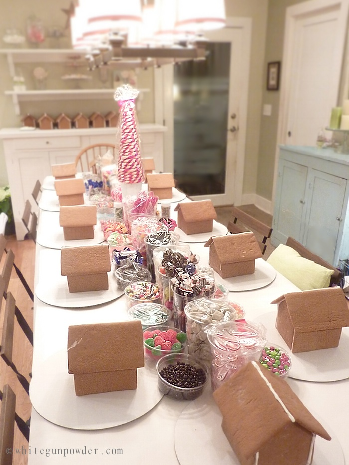 Gingerbread House Decorating Party White Gunpowder