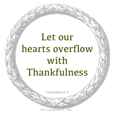Thankfulness, Colossians 2:7