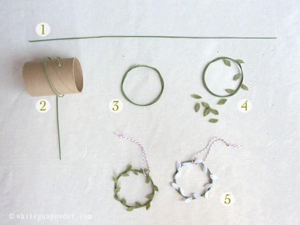 mini felt wreath