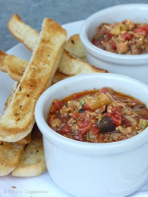 Sausage and Eggplant soup