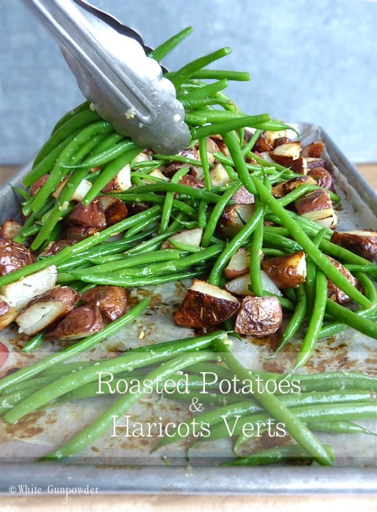 Roasted potatoes and haricots verts