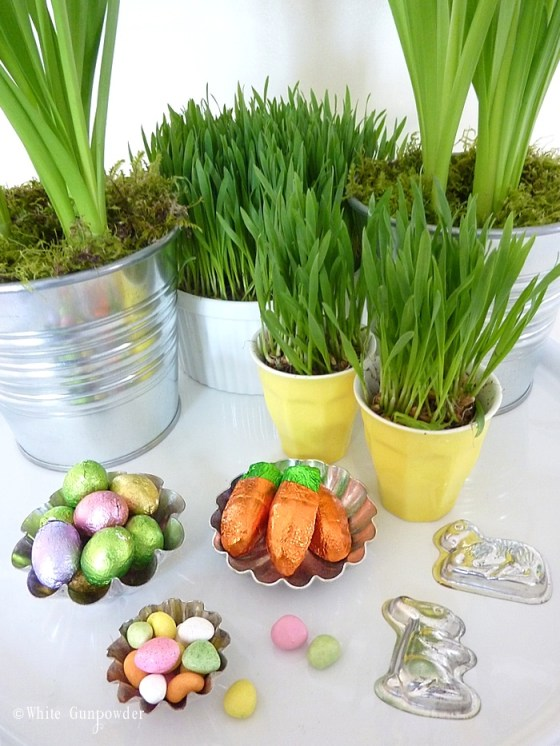 Easter table settings and decorations