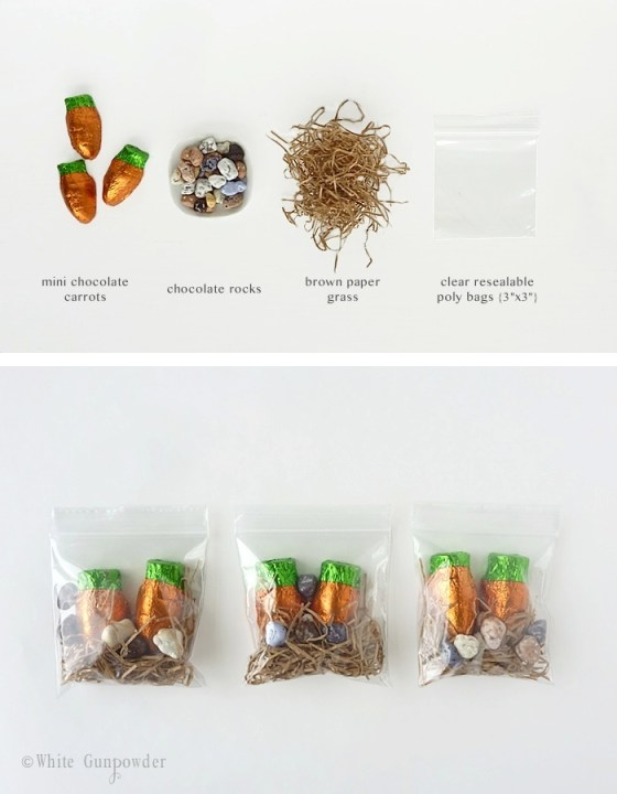 Packaging, chocolate carrots