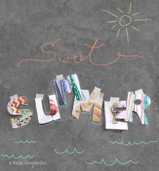 Sweet Summer, letter cutouts