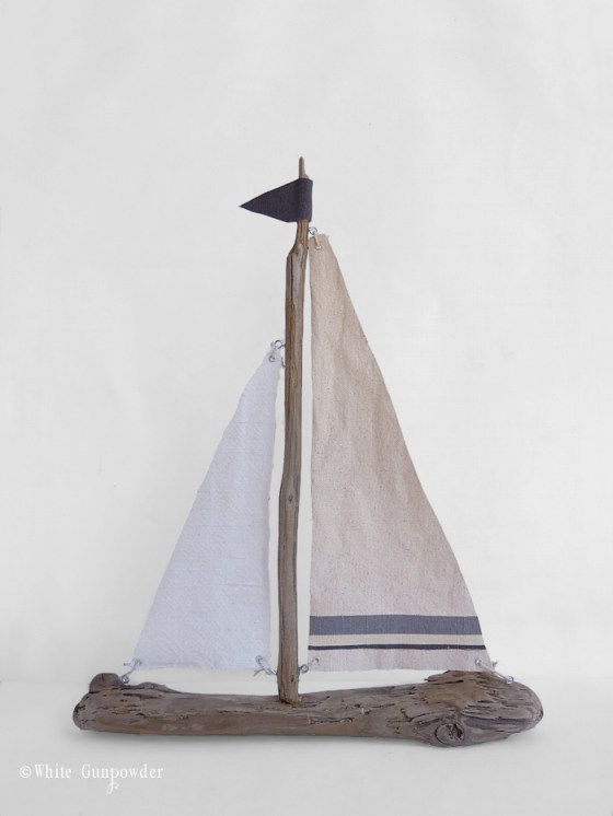 diy, Driftwood Sailboats