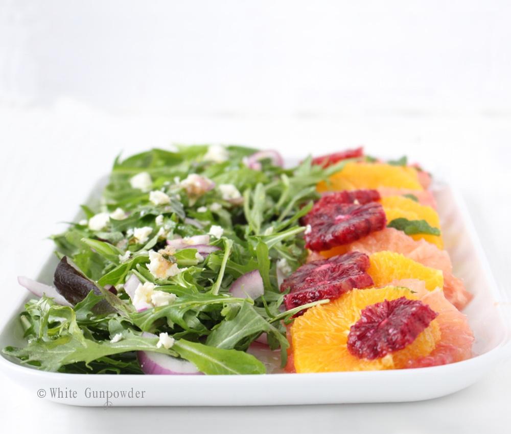 Winter Citrus Salad - White Gunpowder