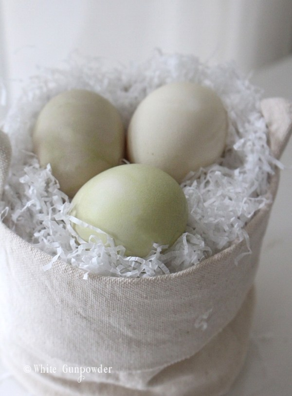 Easter eggs, natural dyes