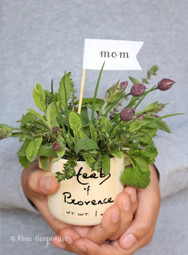 Mother's Day, herb bouquet