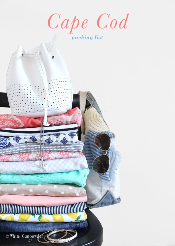 Cape Cod, packing list