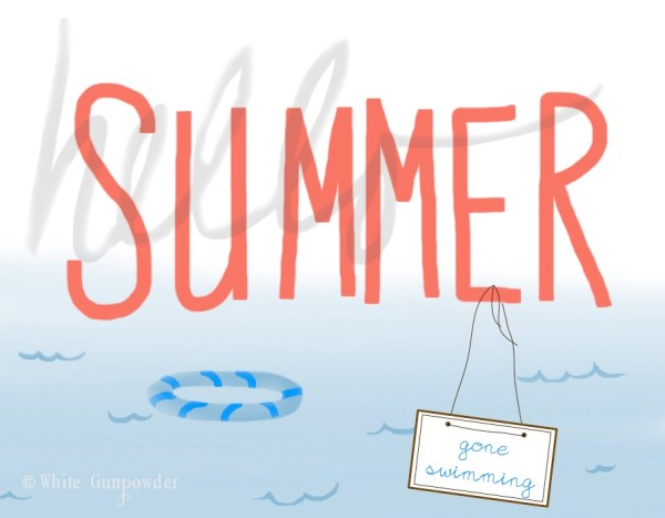 summer, gone swimming
