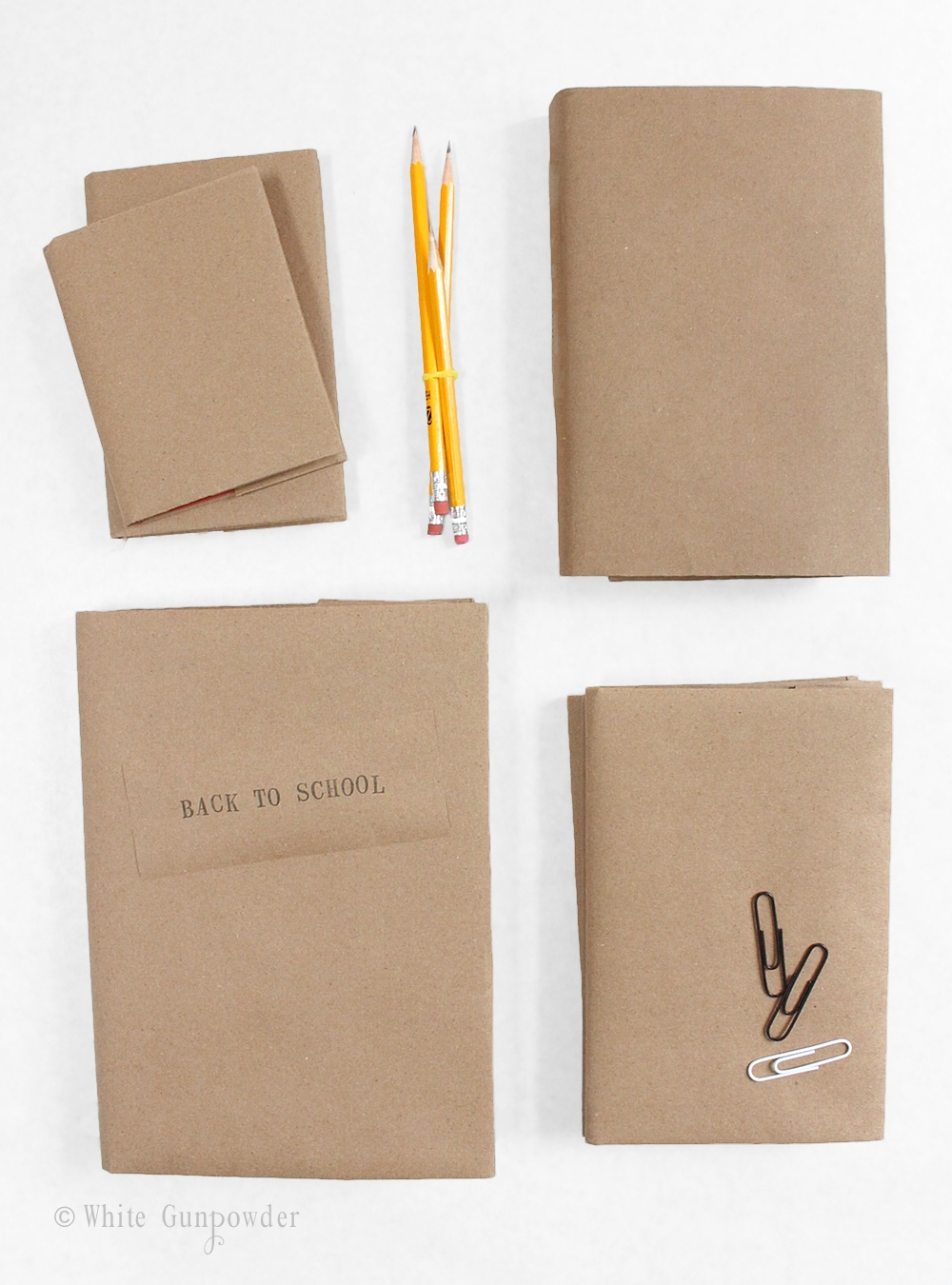 Brown Paper Book Cover : Back to school diy brown paper book covers white gunpowder