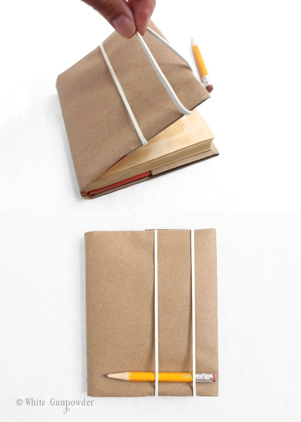 Back to school, brown paper book covers