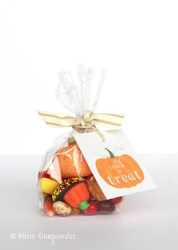 Halloween - pumpkin tags - candy bags