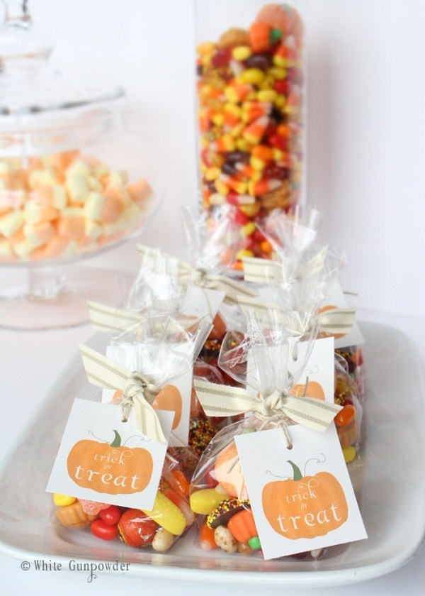 Halloween- pumpkin tags - candy bags