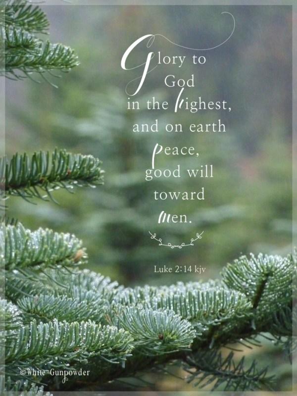 December, glory to God