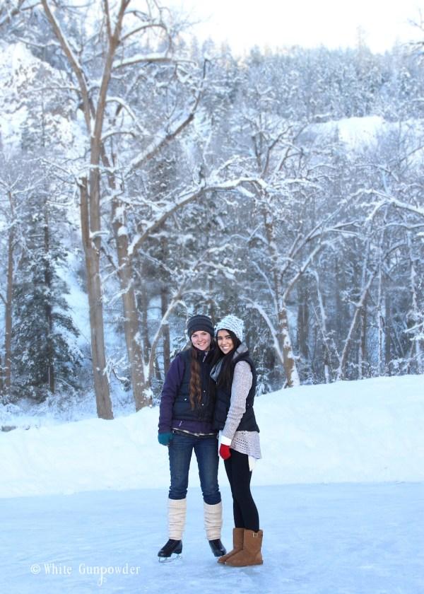 ice skating & winter snow
