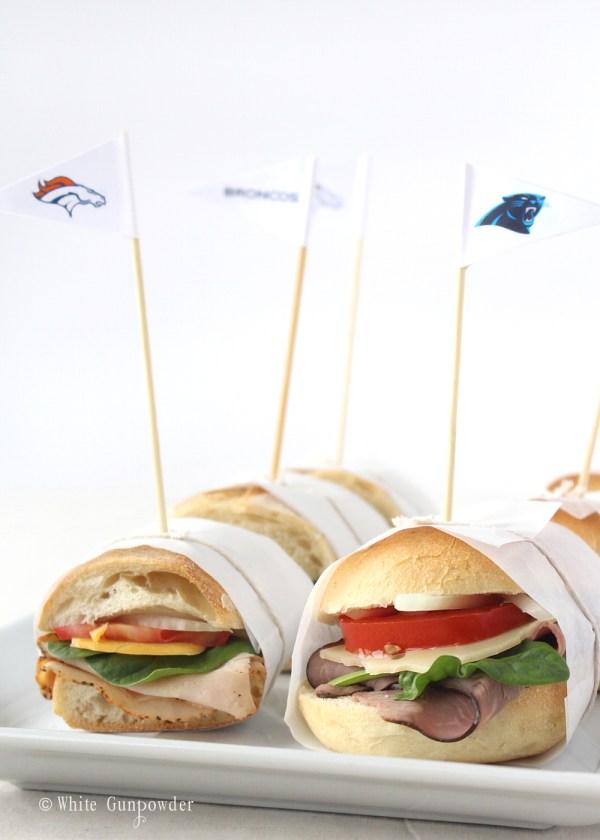 Denver Broncos & Carolina Panthers mini flags