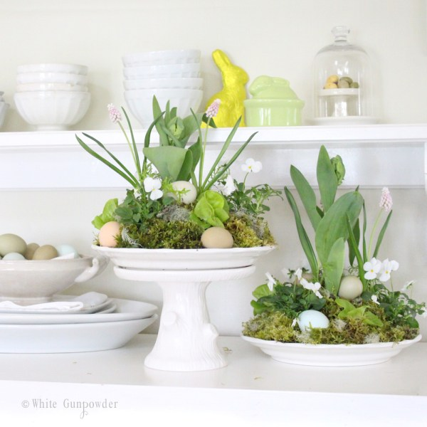 Easter flower-egg arrangements