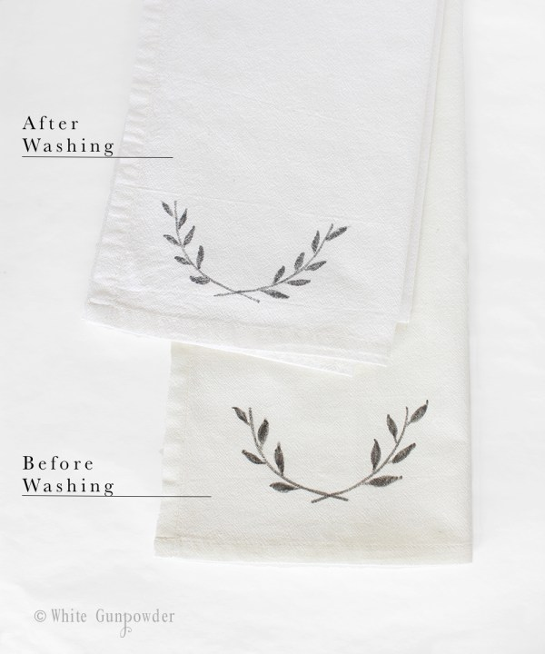 diy Flour sack towels