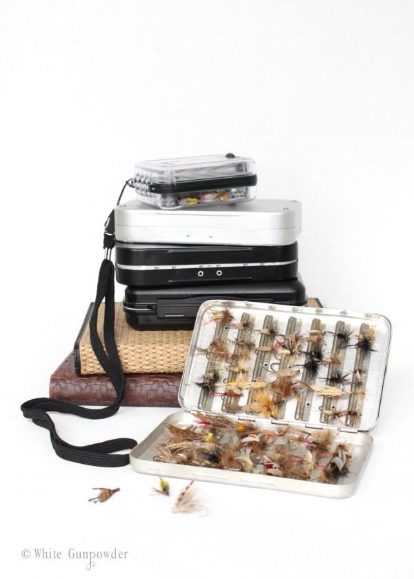 Postfly Box, Fly box, Father's Day gifts -white gunpowder