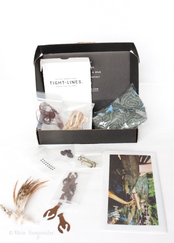 Postfly Box, Father's Day gift -white gunpowder