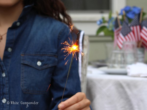 Forth of July - sparklers