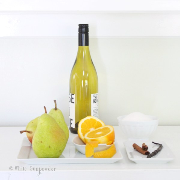 recipe, poached pears