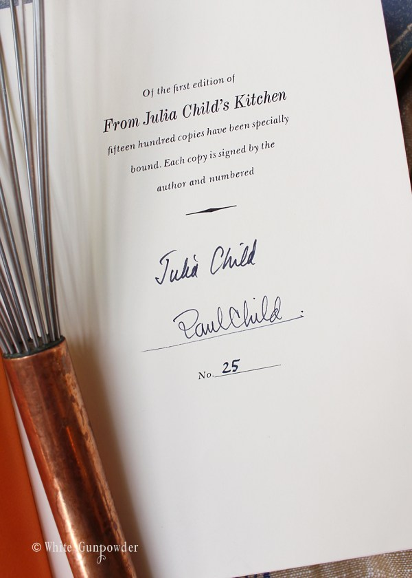 Julia Child cookbooks
