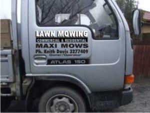 Maxi Mows truck