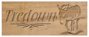 Wood Sign Donkey