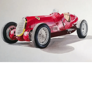 Alfa Romeo 12C36 - Phillip Dutton White - Original Artwork