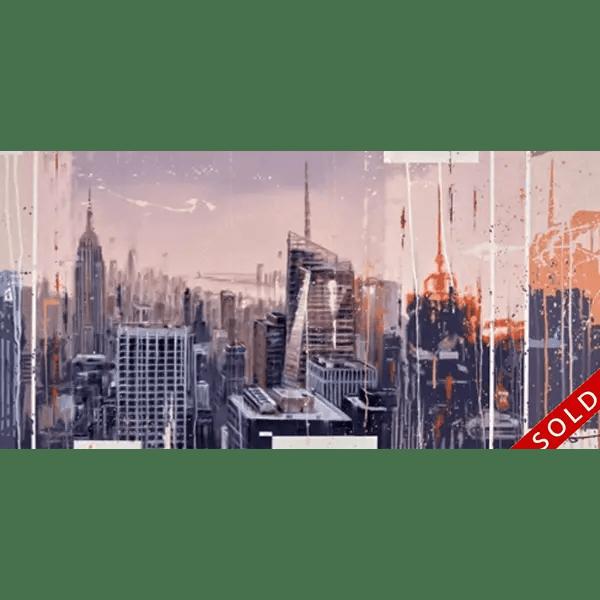 NY Sunset - Kris Hardy - Original Artwork