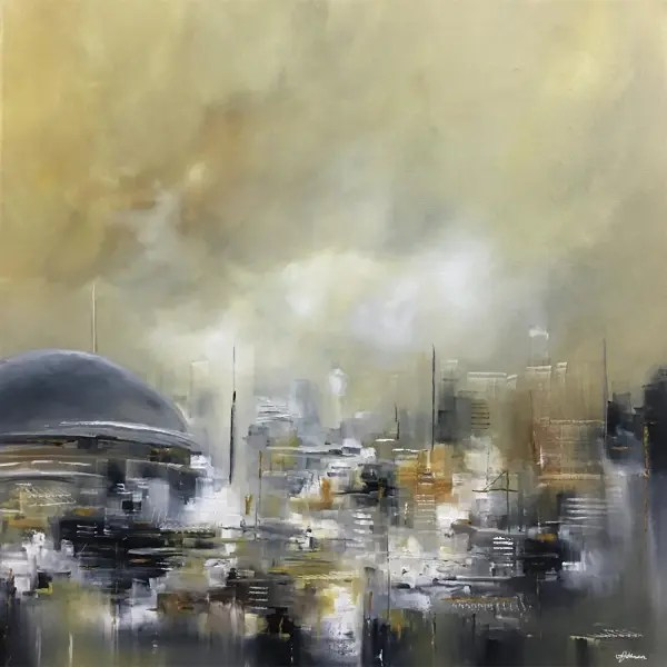 Metro-II-Cityscape - Alison Johnson - Original Artwork