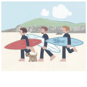 The Boys At Fistral Beach - Sasha Harding - Limited Edition