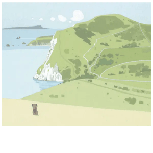 What A View Lulworth Ranges - Sasha Harding - Limited Edition