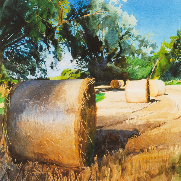 Straw Bails and Willows - Bob Rudd - Limited Edition