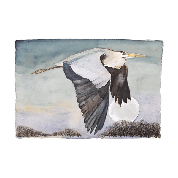The Lost Words Heron In Flight - Jackie Morris - Premium Limited Edition