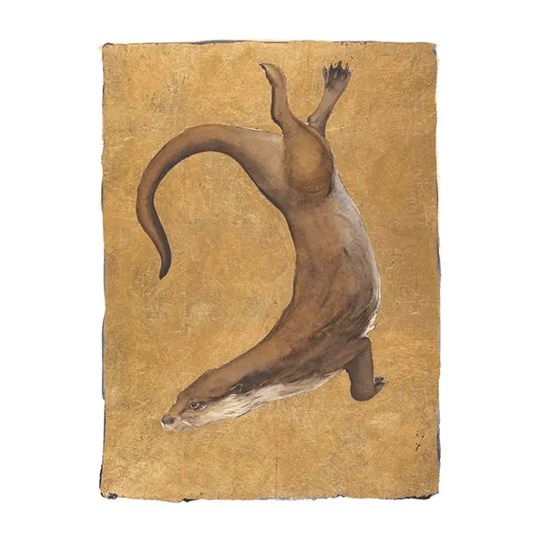 The Lost Words Otter Gold Leaf - Jackie Morris - Premium Limited Edition