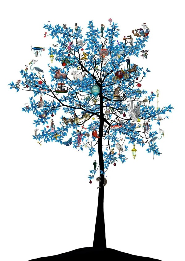 Mammalian Blue Folk Tree - Kristjana S Williams - Limited Edition