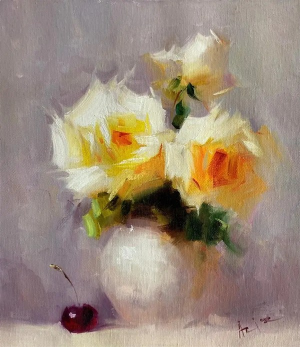 Cherry Kiss - Aziz Sulaymanov - Original Artwork