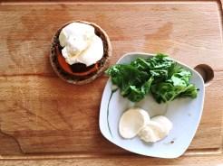 Mozarella Salat gesundes Essen