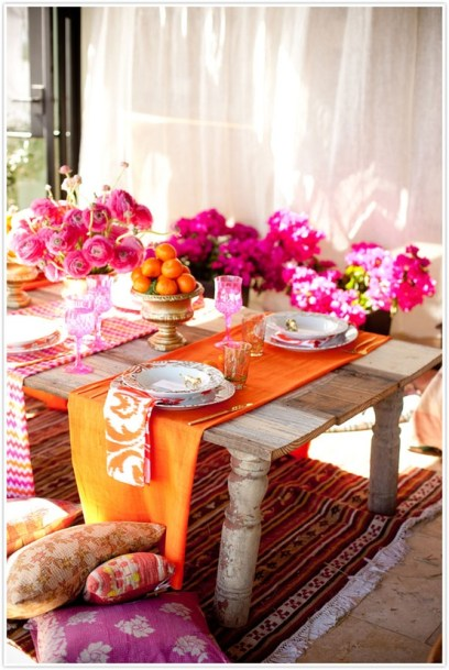 Moroccan style centerpiece