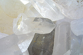 white quartz crystals