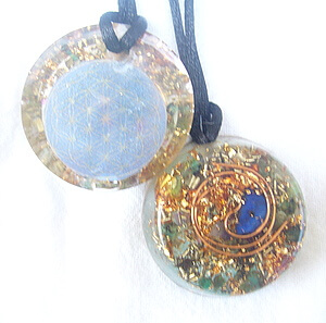 Golden Spiral Orgone Pendant by Lightstones
