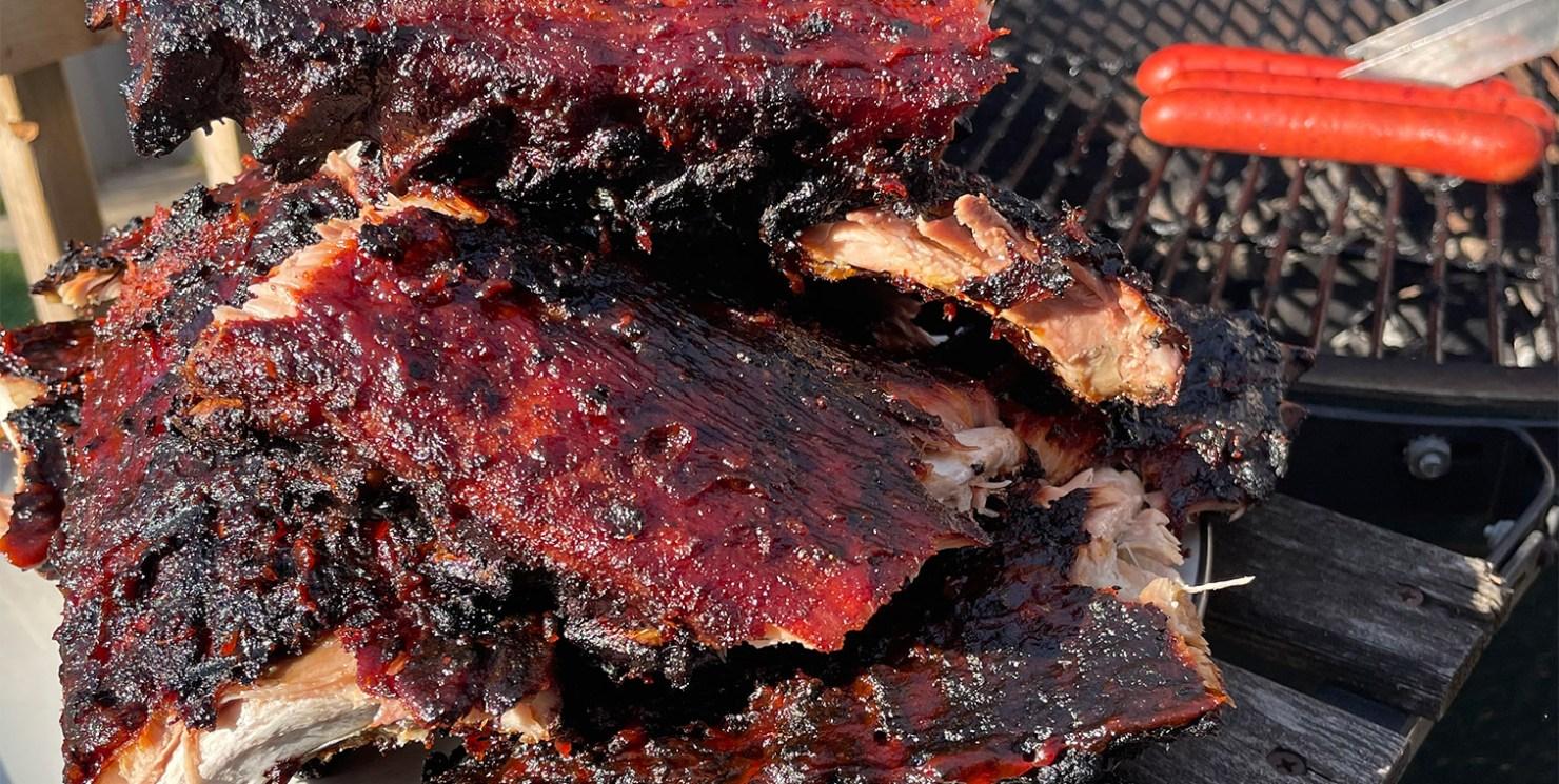 Smoked Maple BBQ ribs