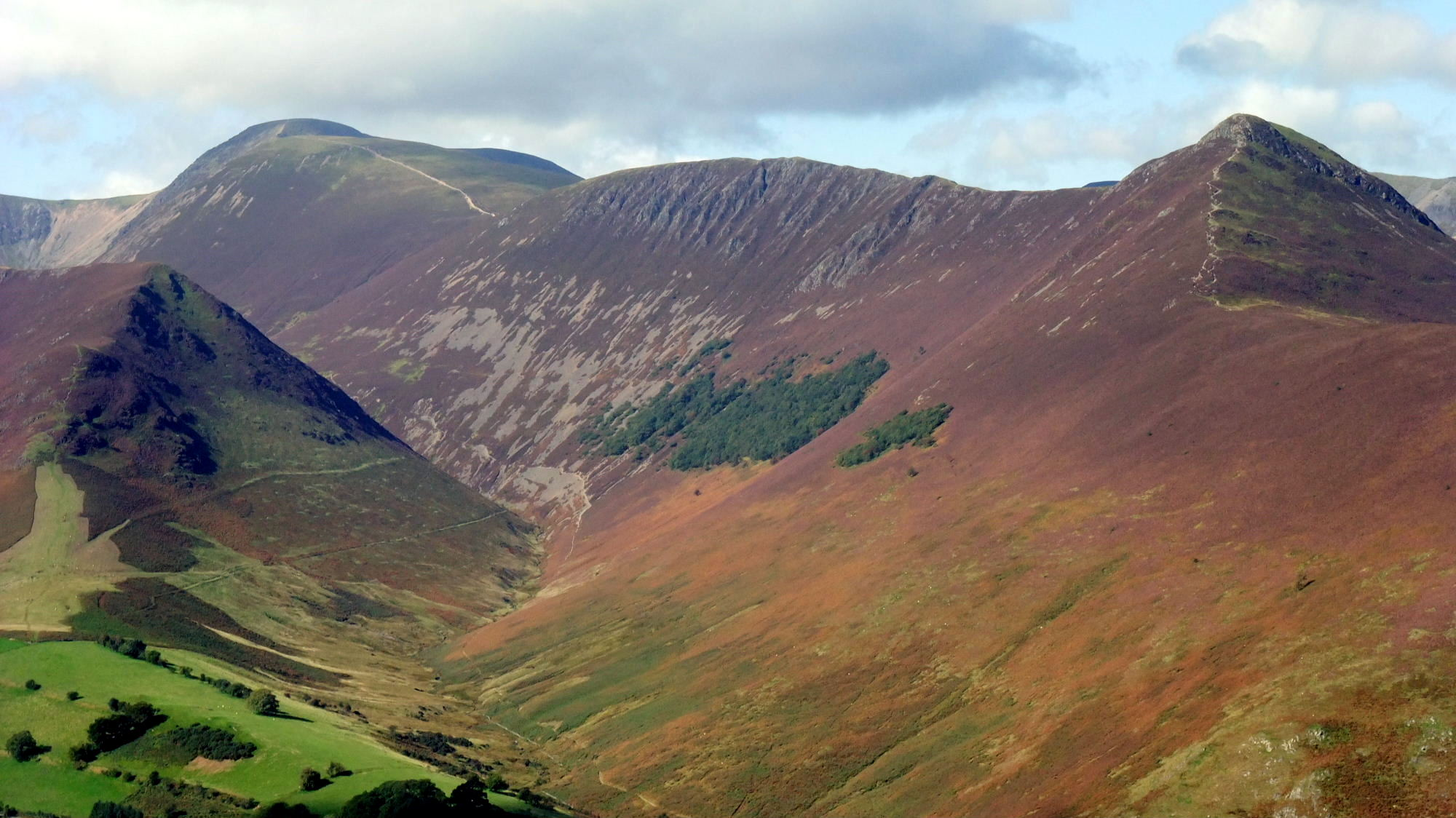 View down Newlands Valley