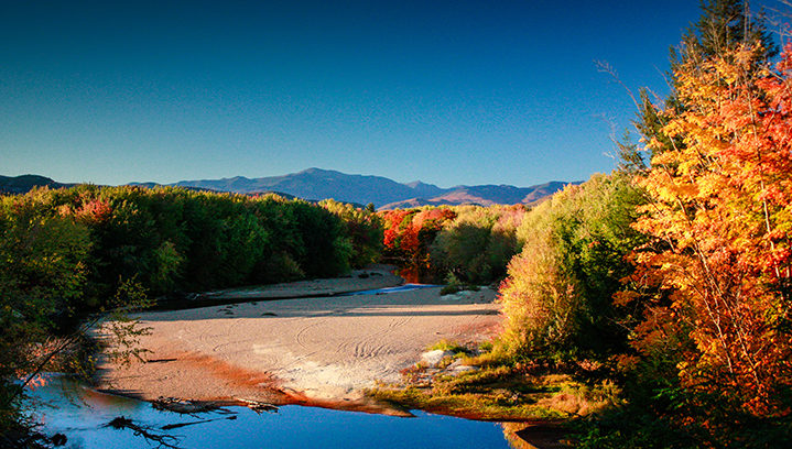 Mt Washington and the Saco River from Conway