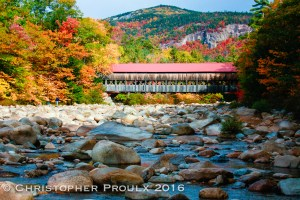 The Albany Covered Bridge over the Swift River, just off the Kancamagus Scenic Byway