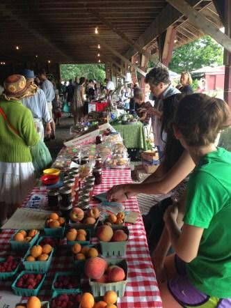 Farmers Market table.